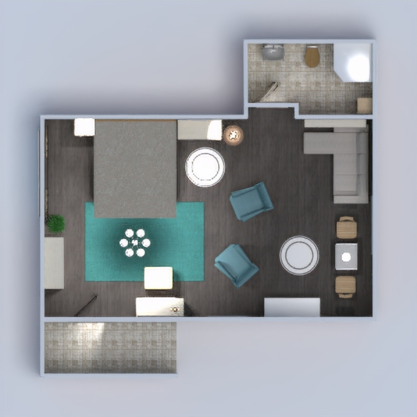 floorplans apartment furniture bathroom bedroom dining room 3d