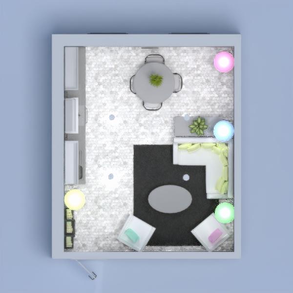 progetti arredamento angolo fai-da-te saggiorno cucina illuminazione 3d