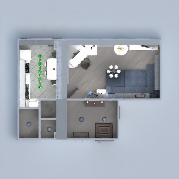 floorplans apartment furniture living room kitchen 3d