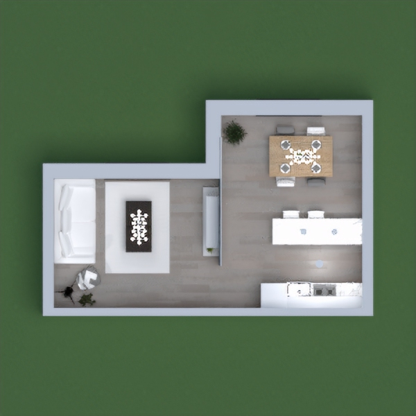 floorplans dom pokój dzienny kuchnia jadalnia 3d