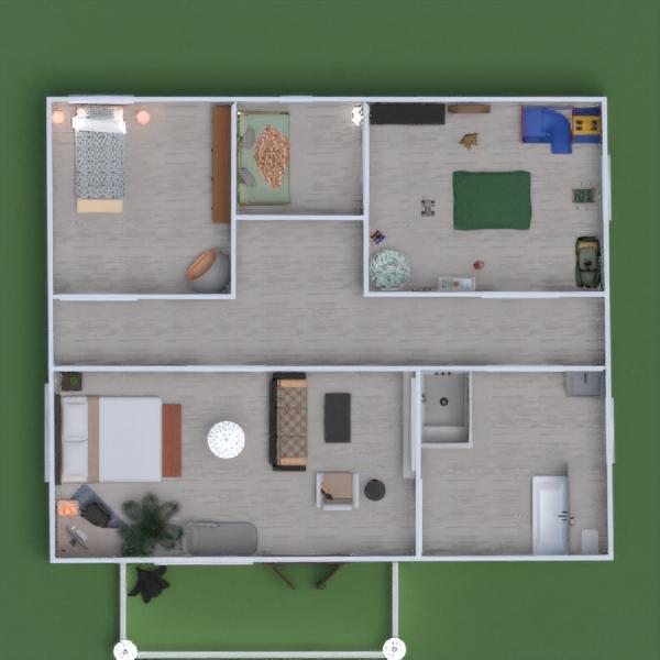 floorplans namas baldai dekoras apšvietimas 3d