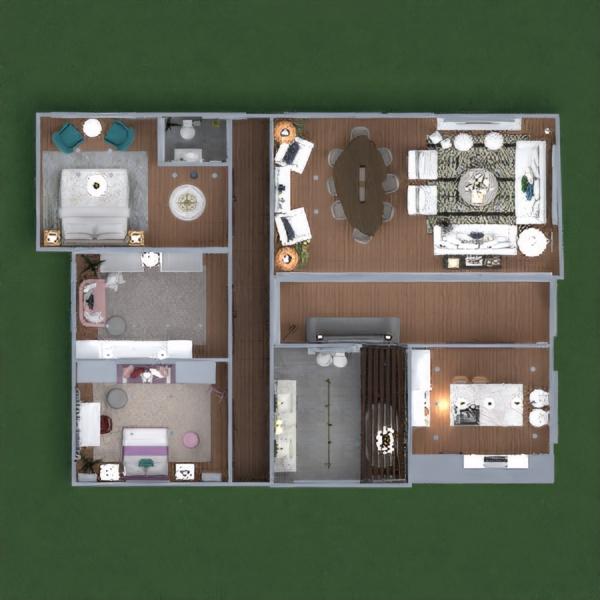 floorplans casa bagno camera da letto cameretta 3d