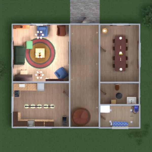 floorplans maison meubles décoration salle de bains chambre à coucher cuisine extérieur eclairage salle à manger 3d