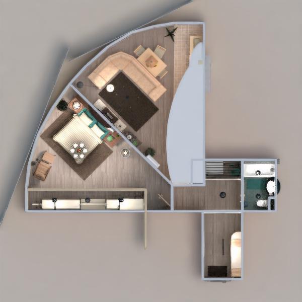 floorplans wohnung mobiliar badezimmer schlafzimmer wohnzimmer küche beleuchtung renovierung haushalt esszimmer lagerraum, abstellraum eingang 3d