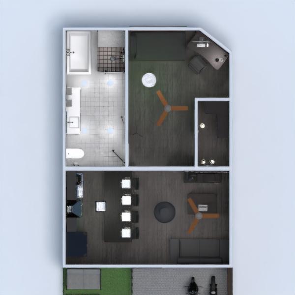 floorplans apartamento terraza cuarto de baño dormitorio salón 3d