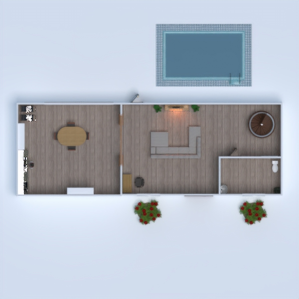 floorplans terrace bathroom bedroom living room kitchen 3d