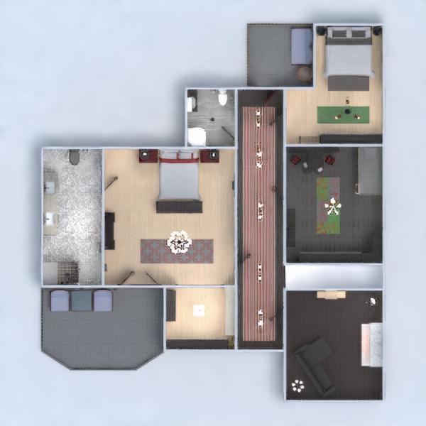 floorplans dom meble wystrój wnętrz krajobraz architektura 3d