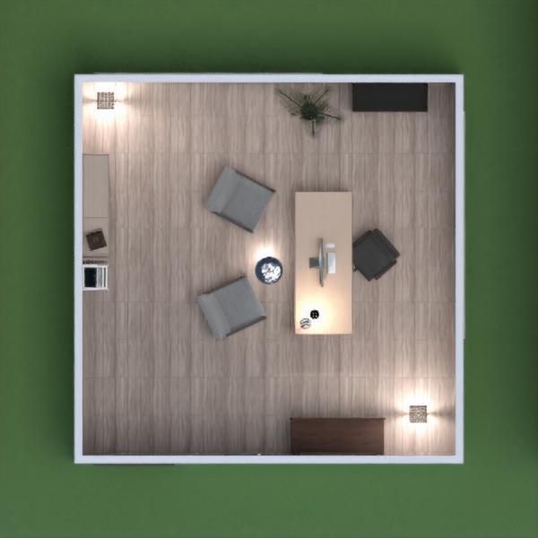 floorplans muebles decoración despacho iluminación paisaje 3d