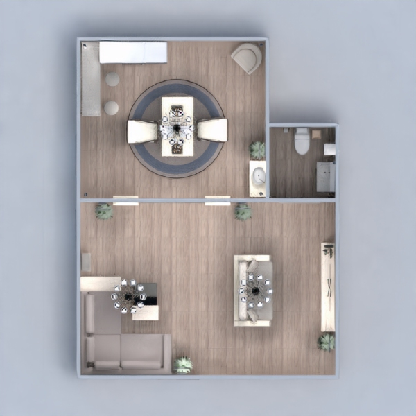 floorplans house living room kitchen 3d