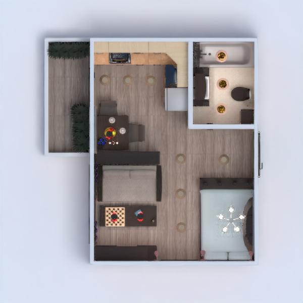 floorplans appartamento arredamento decorazioni angolo fai-da-te bagno camera da letto saggiorno cucina illuminazione rinnovo monolocale 3d