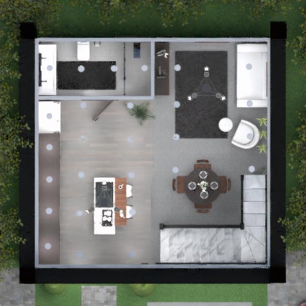 планировки дом ванная кухня столовая 3d