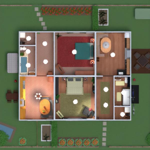 floorplans дом мебель декор ванная спальня кухня улица ландшафтный дизайн прихожая 3d