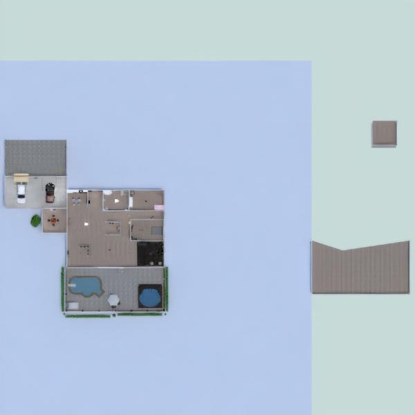 floorplans namas baldai virtuvė eksterjeras 3d