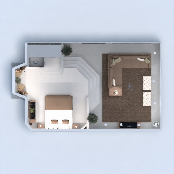 floorplans dom sypialnia pokój dzienny 3d