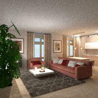 floorplans apartamento muebles cuarto de baño dormitorio salón cocina iluminación 3d