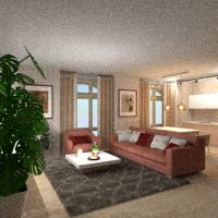 floorplans apartamento mobílias casa de banho dormitório quarto cozinha iluminação 3d