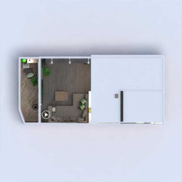 floorplans appartamento decorazioni bagno saggiorno cucina monolocale 3d