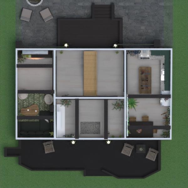 floorplans house terrace furniture decor architecture 3d