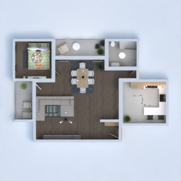 floorplans house furniture bathroom bedroom living room 3d