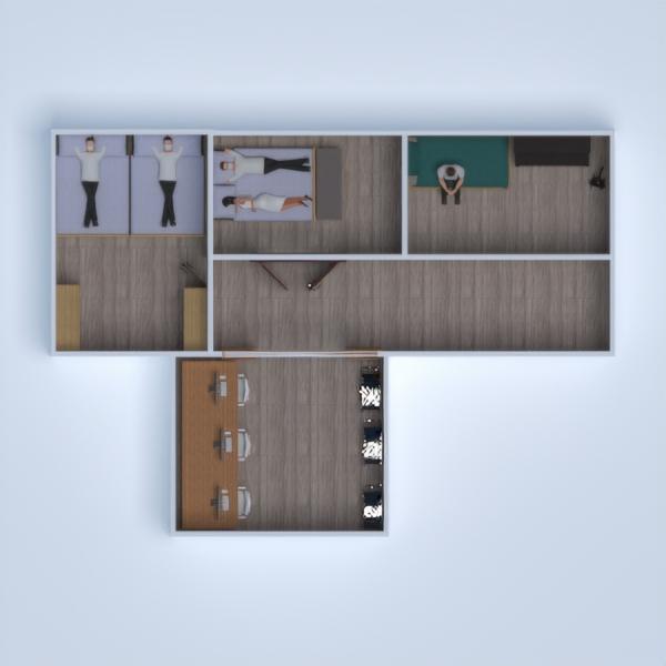 floorplans cuarto de baño salón cocina despacho comedor 3d