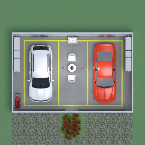 floorplans garažas sandėliukas 3d