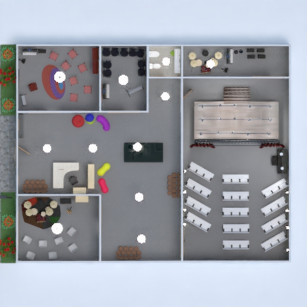 floorplans casa muebles habitación infantil arquitectura estudio 3d