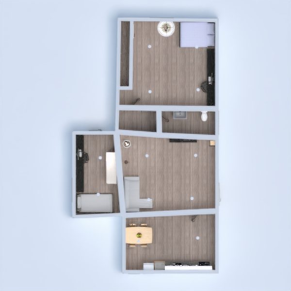 floorplans apartamento casa muebles 3d