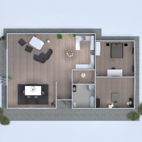 floorplans dom kuchnia oświetlenie jadalnia architektura 3d
