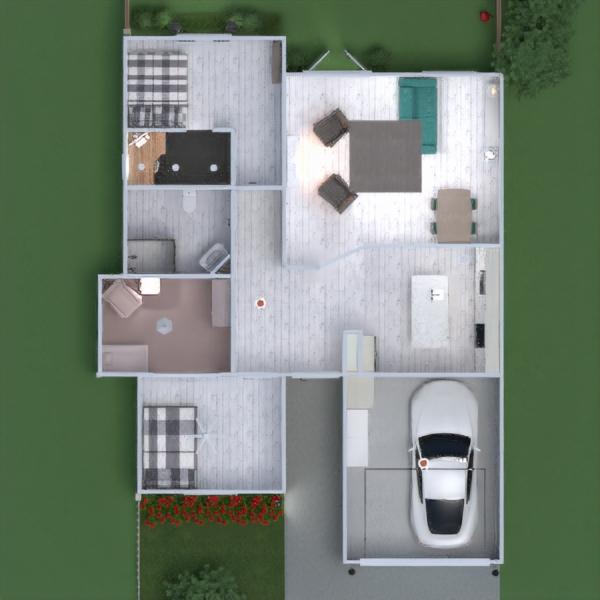 floorplans maison chambre à coucher salon garage cuisine extérieur chambre d'enfant bureau eclairage rénovation salle à manger espace de rangement 3d