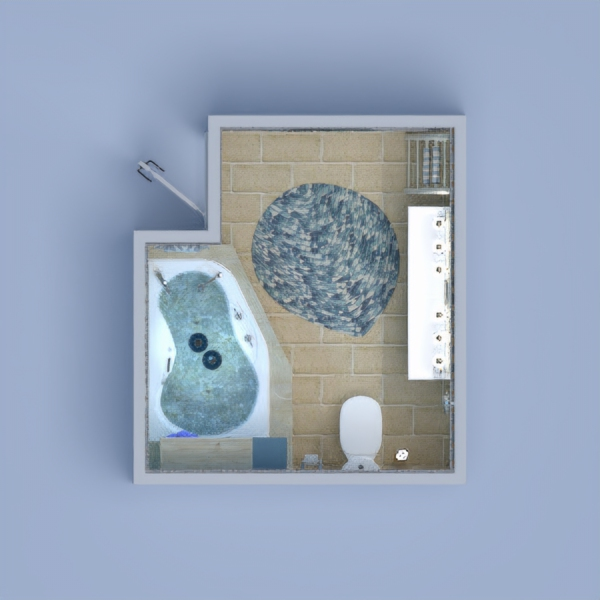 floorplans baldai dekoras vonia apšvietimas 3d