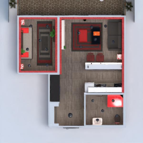 floorplans квартира терраса декор ванная спальня гостиная кухня освещение 3d