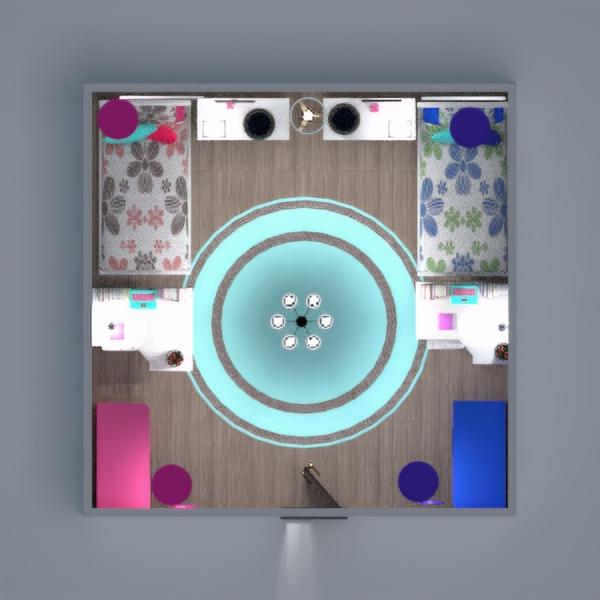 floorplans camera da letto cameretta 3d