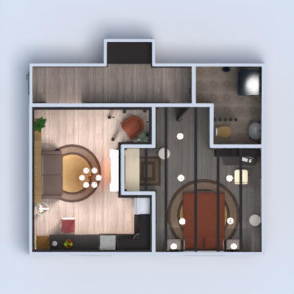 floorplans apartamento casa de banho dormitório quarto cozinha arquitetura 3d