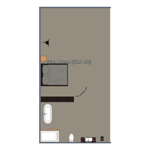 floorplans apartamento decoración dormitorio salón iluminación 3d