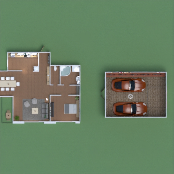 floorplans appartement maison garage bureau eclairage 3d