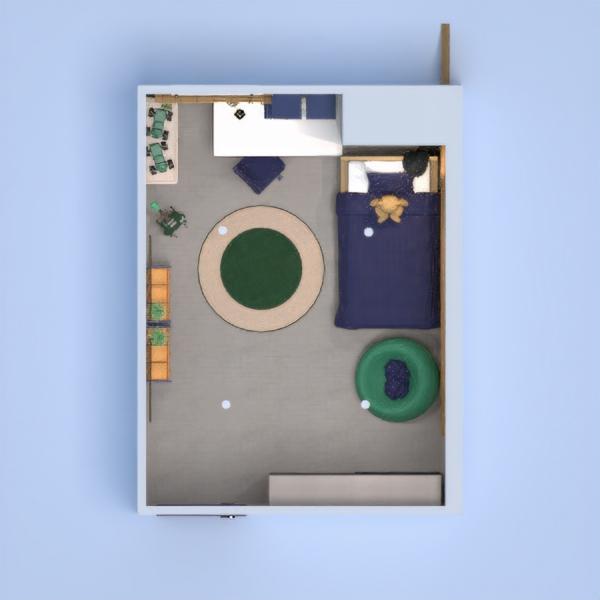 floorplans dom meble sypialnia pokój diecięcy oświetlenie 3d