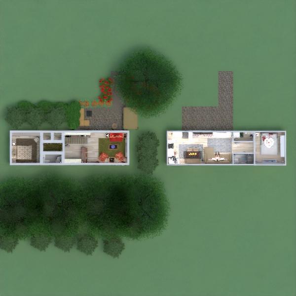 floorplans apartamento casa exterior iluminación paisaje 3d
