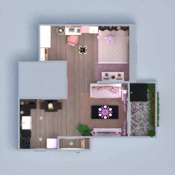floorplans apartment house terrace furniture decor bathroom bedroom living room kitchen lighting studio 3d