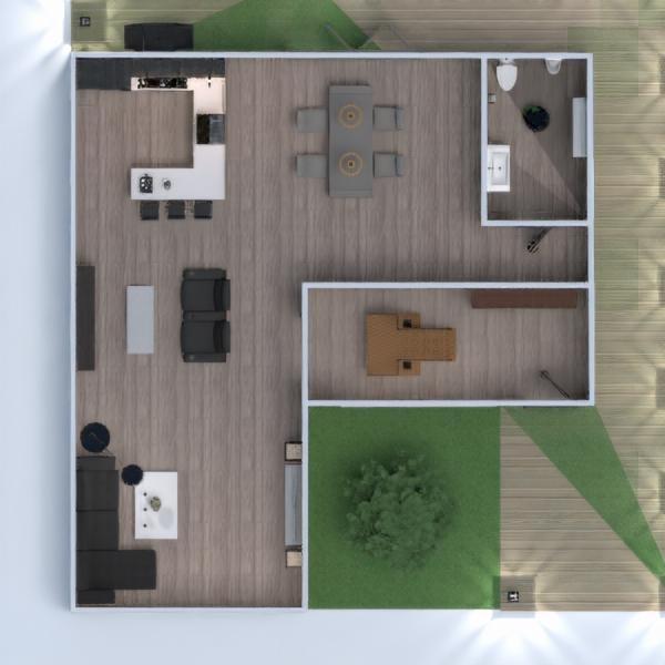 floorplans casa veranda bagno camera da letto saggiorno cucina esterno illuminazione paesaggio sala pranzo 3d