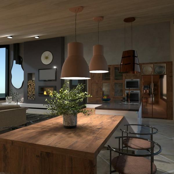 floorplans dom meble wystrój wnętrz na zewnątrz 3d