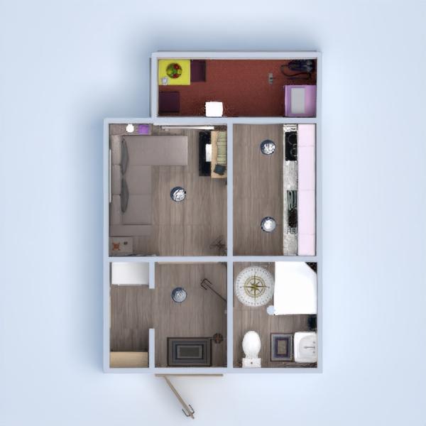 floorplans apartamento estudio 3d
