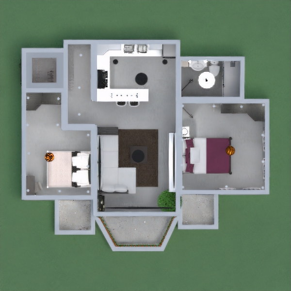 floorplans apartment furniture living room 3d