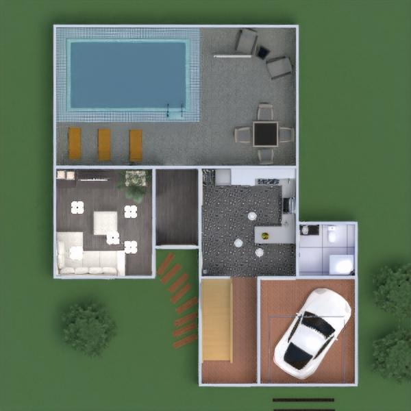 floorplans namas terasa baldai dekoras pasidaryk pats vonia miegamasis svetainė garažas virtuvė vaikų kambarys biuras apšvietimas kraštovaizdis prieškambaris 3d