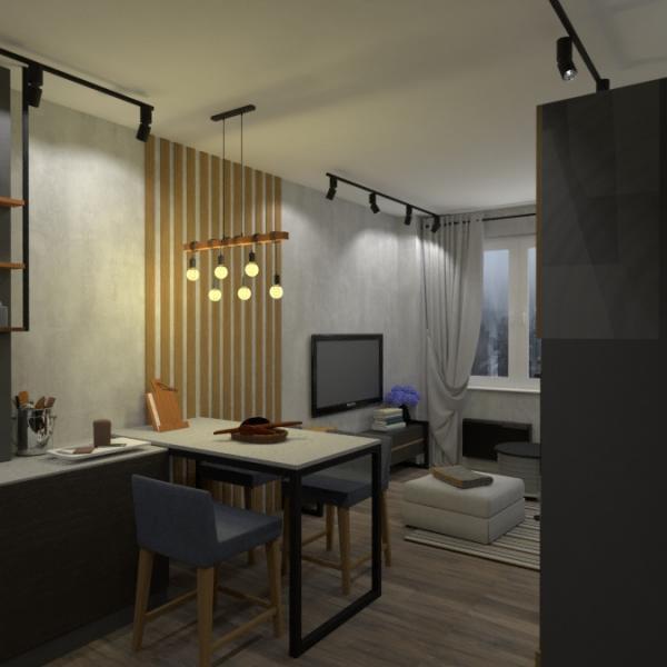 floorplans apartamento casa salón cocina habitación infantil 3d