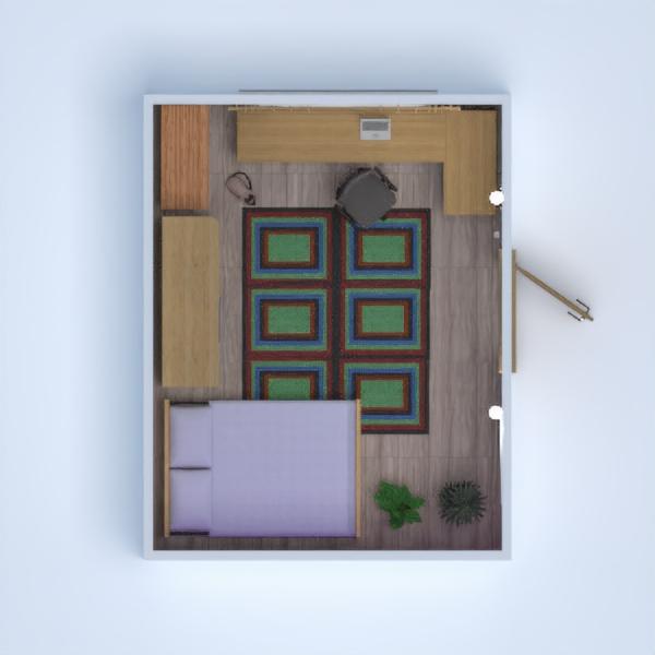 floorplans meubles chambre à coucher 3d