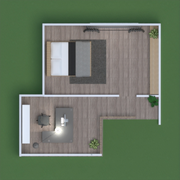 floorplans dom oświetlenie krajobraz 3d