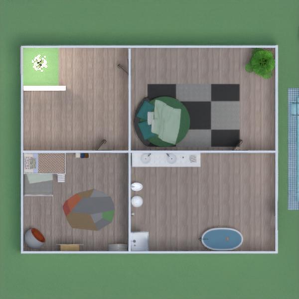 floorplans maison garage paysage salle à manger 3d