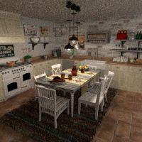 floorplans muebles salón cocina comedor 3d