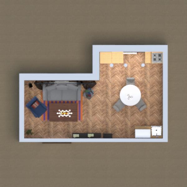 floorplans virtuvė kavinė valgomasis 3d