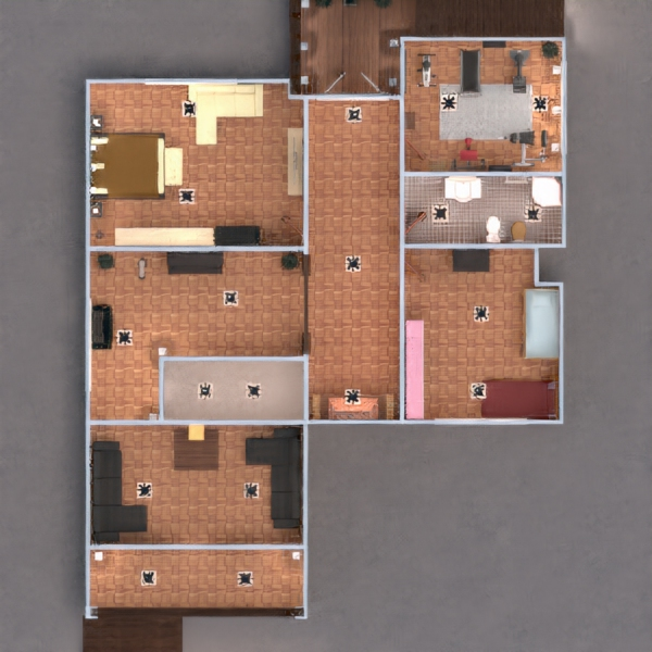 floorplans casa veranda arredamento decorazioni bagno camera da letto saggiorno garage cucina esterno cameretta studio illuminazione famiglia architettura 3d